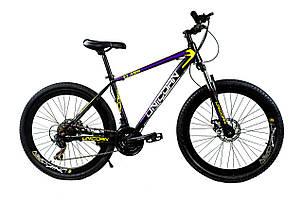 """Велосипед Unicorn - Flash 26"""" розмір рами 18"""" Чорно-фіолетовий, фото 2"""
