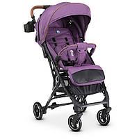 Візок дитячий ME 1039L IDEA Violet прогулянковий, книжка, колеса 4шт., чохол, льон, фіолетовий.