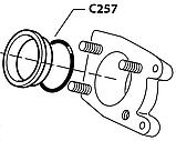 C257 (C261) Гумовий ущільнювач(на теплообмінник), OR 153, d=49,21x3,53mm, Viton, Cimbali, фото 2