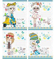 Комплект тетрадей Украинский стиль 12 листов в линию 20 шт. Мечты сбываются