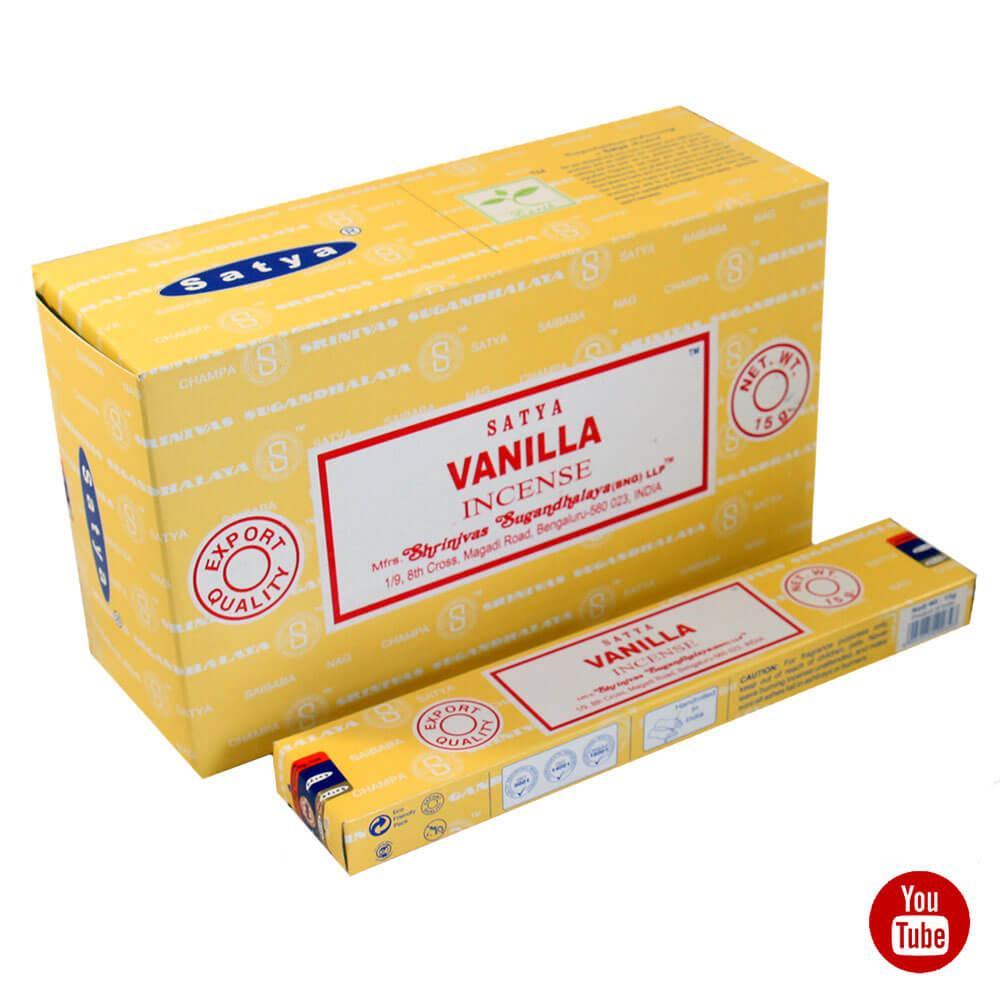 Благовония Ваниль (Vanilla, Satya) , 15 грамм