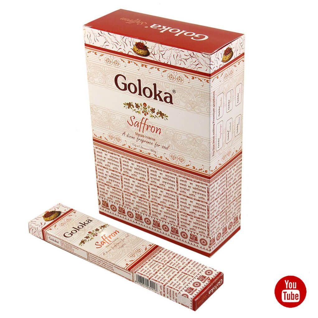 Благовония Шафран Saffron Goloka, 15 грамм