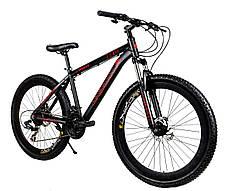 """Велосипед Unicorn - Rocket 26"""" розмір рами 17"""" Чорно-червоний, фото 2"""