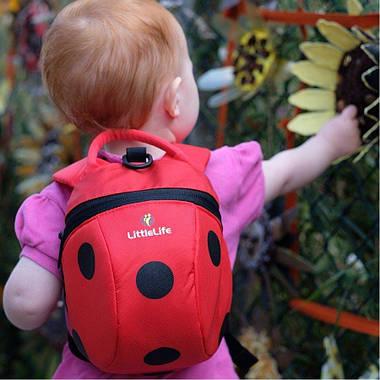 Рюкзак дитячий Little Life Animal Toddler 2L ladybird new, фото 3