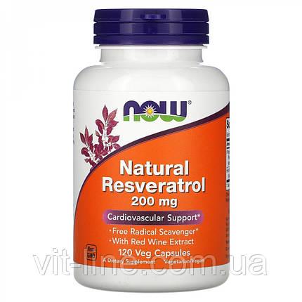 Now Foods Натуральный ресвератрол 200 мг, 120 капсул, фото 2