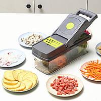 Ручной кухонный измельчитель овощерезка, блендер шинковка Magic line 12 в 1