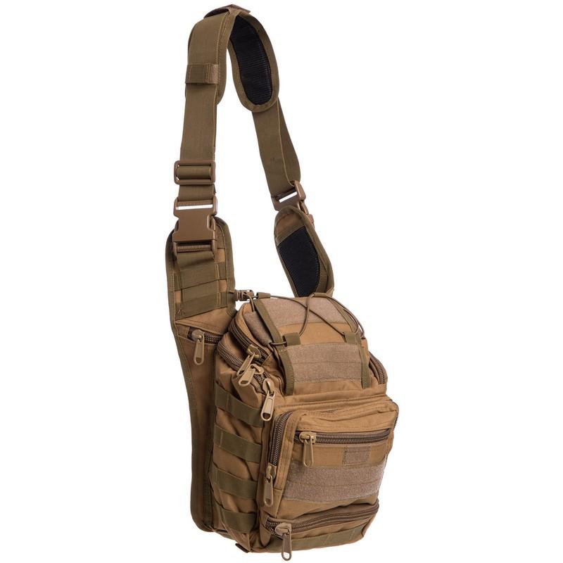 Тактичний рюкзак - сумка Silver Knight 10л Molle Velcro Coyote (803-cotote)