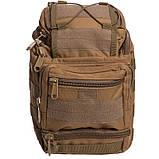Тактичний рюкзак - сумка Silver Knight 10л Molle Velcro Coyote (803-cotote), фото 3