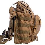 Тактичний рюкзак - сумка Silver Knight 10л Molle Velcro Coyote (803-cotote), фото 6