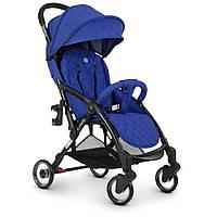 Візок дитячий ME 1058 WISH Indigo прогулянковий, книжка, колеса 4 шт., чохол, льон, синій.