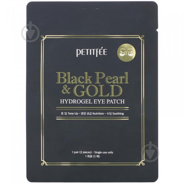 Патчи под глаза Petitfee с золотом и черным жемчугом Black Pearl &amp Gold Hydrogel Eye Patch 2 шт./уп.