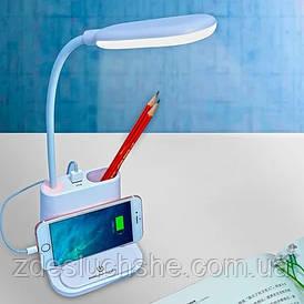 Лампа настольная аккумуляторная Led Bionic Desk Lamp сенсорная с функцией Power Bank белая SKL11-277522