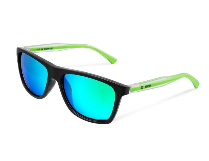 Солнцезащитные поляризационные очки Delphin SG TWIST с зелеными линзами