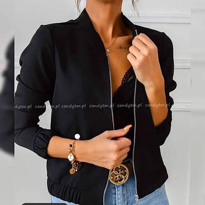 Женская демисезонная замшевая куртка-бомбер