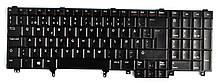 Клавіатура для ноутбука DELL Latitude E6520, E5520, E6530, M4700, M6700 Precision M4600, M6800 без трекпеда EN