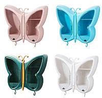Настінний органайзер полиця для косметики Метелик, фото 1