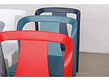 Стілець пластиковий IVA червоний (безкоштовна доставка), фото 3