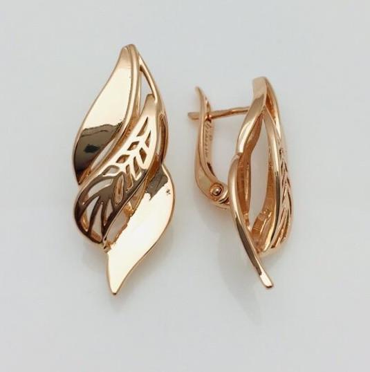 Сережки женские Fallon Jewelry, мед золото, 82100837 высота 30 мм ширина 13 мм , позолота