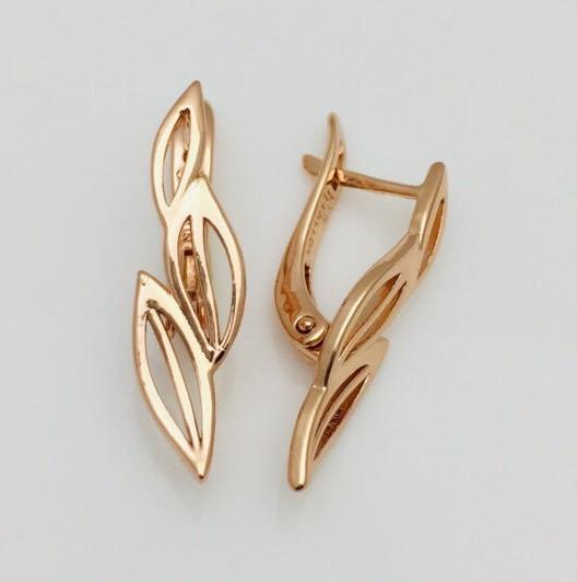 Сережки женские Fallon Jewelry, мед золото, 82100826 высота 26 мм ширина 8 мм , позолота