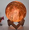 Светильник ночник 3D шар цветной Луна Moon Lamp, фото 6