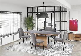 Стол раскладной CONCORD 140(180)x80 темно-серый/дуб золотой(Halmar)