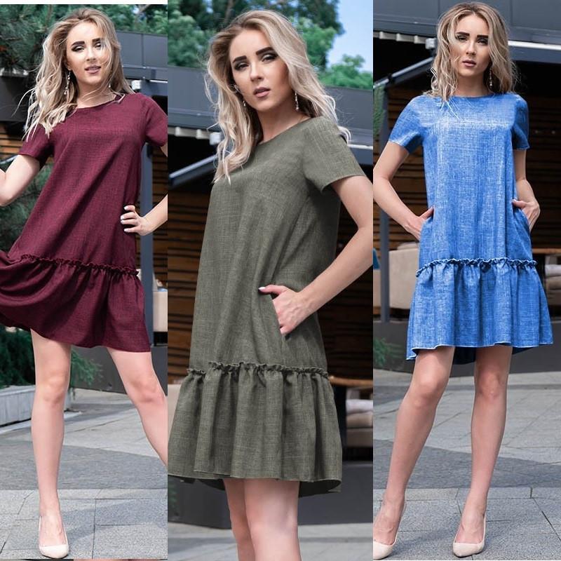 Свободное летнее платье норма и большие размеры