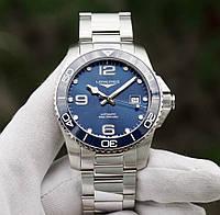 Чоловічі Годинники LONGINES L3.781.4.96.6 Hydro Conquest 41 mm Blue Dial Automatic Ceramics, фото 1