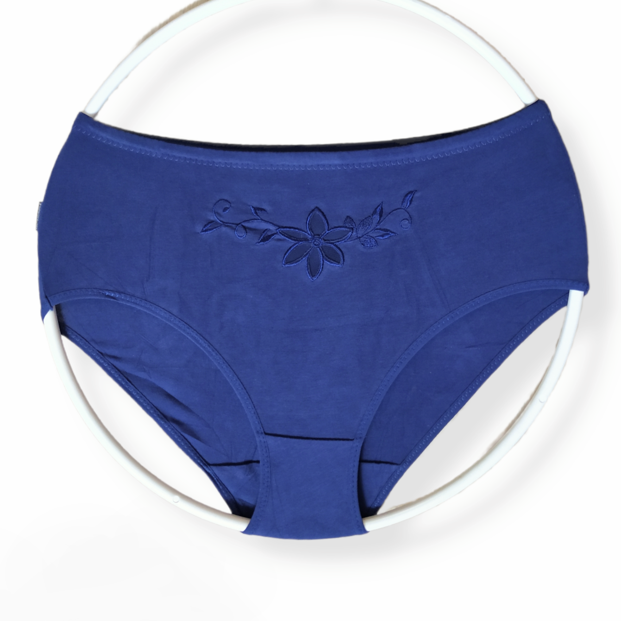 Трусики женские хлопковые  размер 52 синие высокая талия