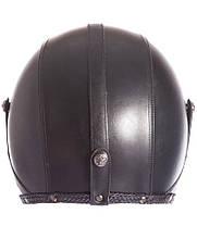 Ретро шлем полулицевик Кастом шлем бабл Каска 3/4 кожаная, фото 3