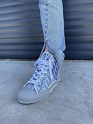 Женские кроссовки Dior Hight Grey Blue