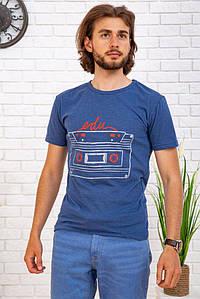 Футболка чоловіча 167R128 колір Синій