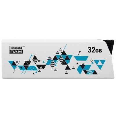 USB флеш накопичувач GOODRAM 32GB Cl!ck White USB 2.0 (UCL2-0320W0R11)