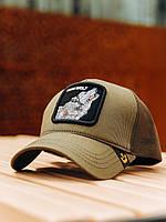 Кепка трекер, спортивна кепка з сіткою, річна бейсболка Вої/вовк