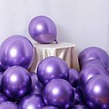 """Шар хром фиолетовый 12"""" (30 см) Purple (Калисан) Kalisan. Надувные воздушные шары хром 1984, фото 2"""