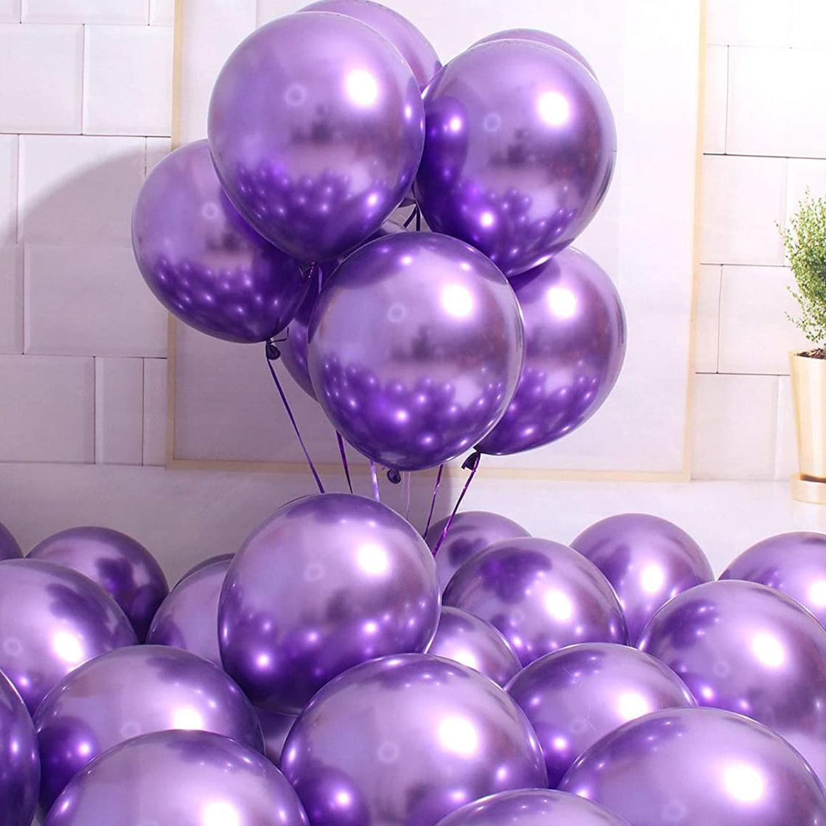 """Шар хром фиолетовый 12"""" (30 см) Purple (Калисан) Kalisan. Надувные воздушные шары хром 1984"""