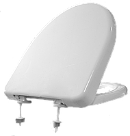 Сиденье с крышкой на унитаз Solo Plast СУ-6 с пластиковым крепежом