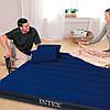 Надувний матрац 152х203х25см Intex 64765 Двоспальний Інтекс з насосом і подушками для плавання, пляжу і моря, фото 5