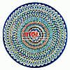 Ляган (узбецька тарілка) 42х5см для подачі плову керамічний (ручна розпис) (варіант 31)