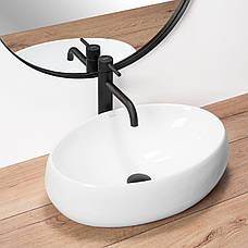 Умывальник (раковина) REA LINDA накладной белый, фото 3