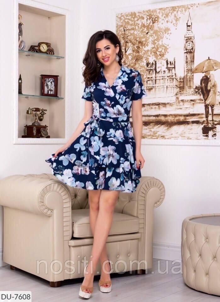 Летнее женское платье на запах