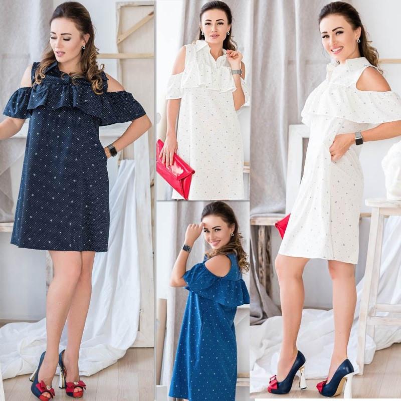 Вільна літня сукня норма і великі розміри