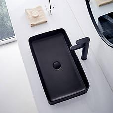 Умивальник (раковина) REA DENIS BLACK MAT накладної чорний матовий, фото 3