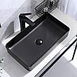 Умивальник (раковина) REA DENIS BLACK MAT накладної чорний матовий, фото 2