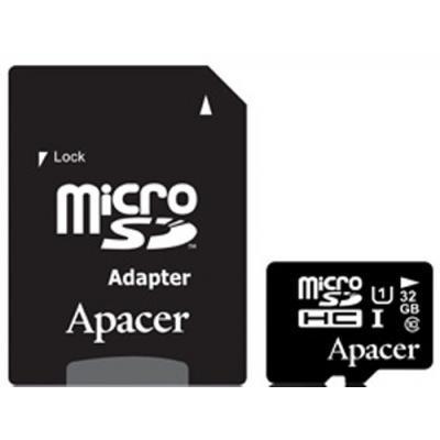 Карта пам'яті Apacer 32GB microSDHC UHS-I Class10 w/ 1 Adapter RP (AP32GMCSH10U1-R)