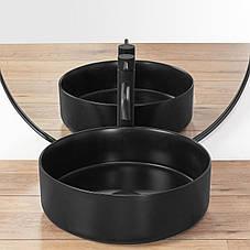 Умывальник (раковина) REA SAMI BLACK MAT накладной черный матовый, фото 3
