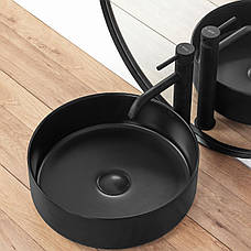 Умывальник (раковина) REA SAMI BLACK MAT накладной черный матовый, фото 2