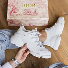 Женские кроссовки Christian Dior D-Connect White