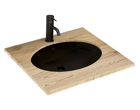 Умивальник (раковина) REA NEL BLACK чорний врізний, фото 2