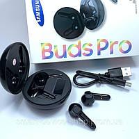 Беспроводные bluetooth наушники Samsung Buds Pro Черные с кейсом, индикация заряда, black самсунг про блютуз