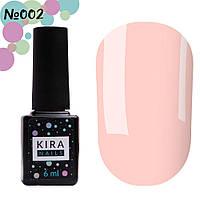 Гель-лак Kira Nails №002 (нежно-розовый, эмаль), 6 мл, фото 1